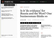 Is it 'do svidanya' for Russia and the West? One businessman thinks so